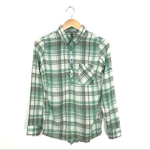 Kuhl Spectra Plaid Popover Shirt Sage Green S B1